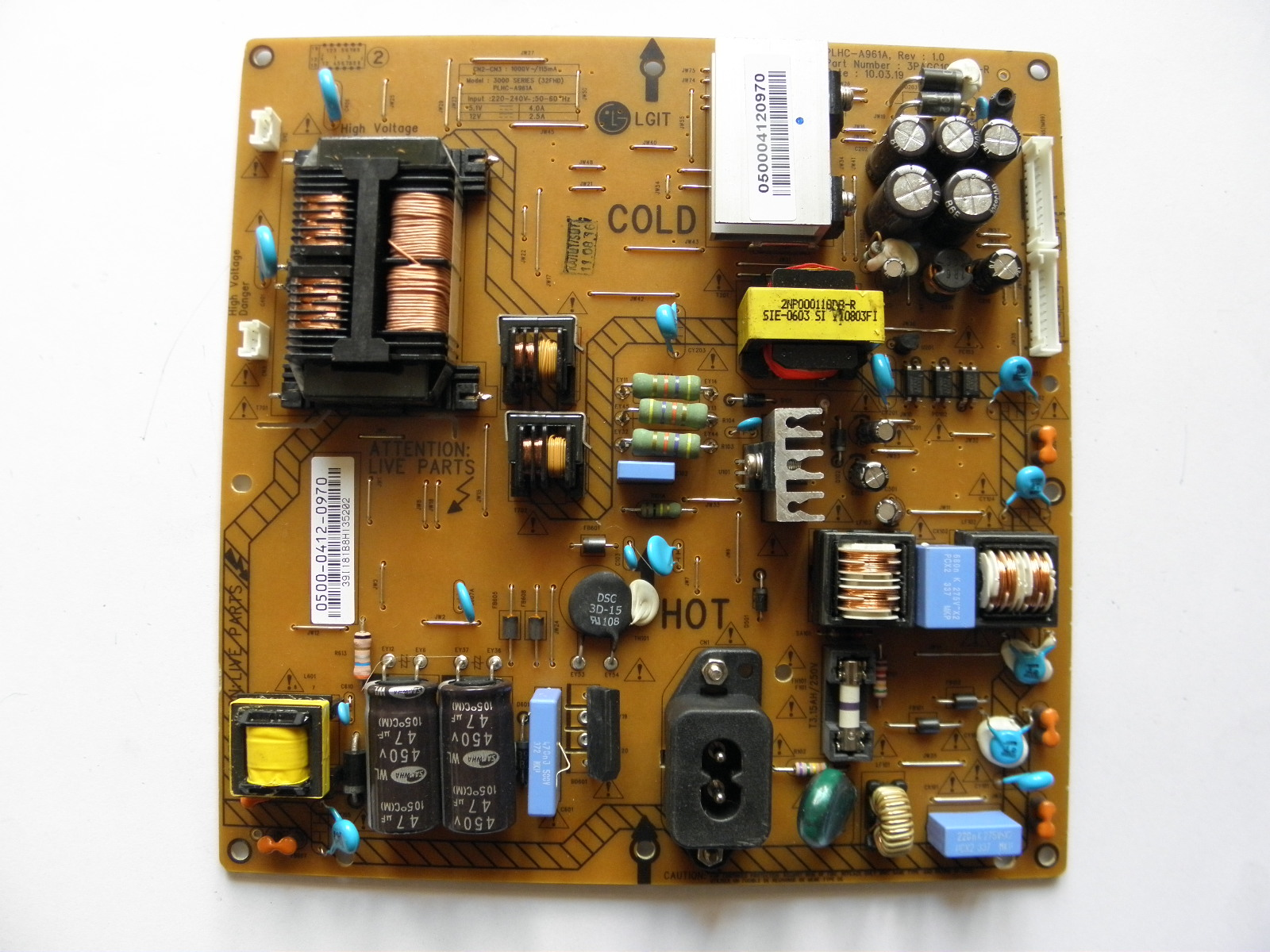 NEW 3PAGC10030B-R PLHC-A961B REV 1.1 TV BOARD MODULE