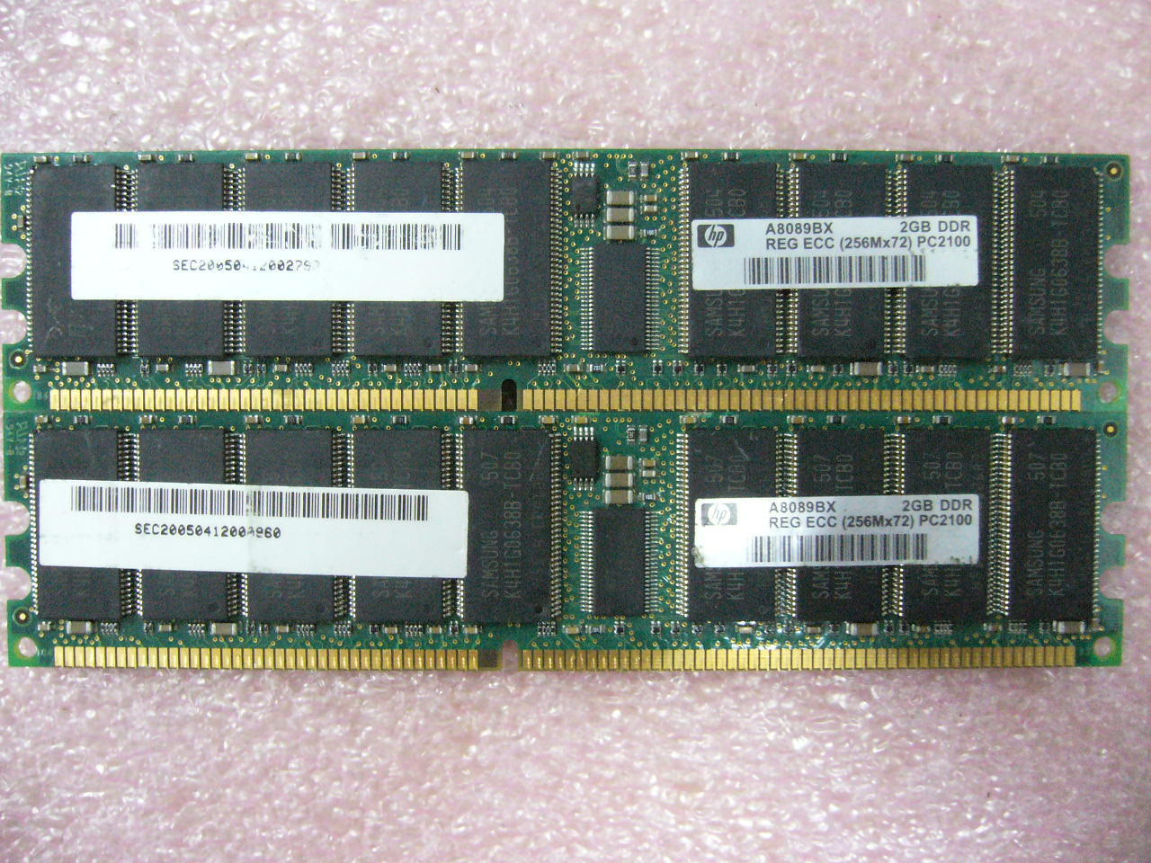 1x 2GB DDR 266 PC-2100R ECC Registered Server memory HP PN A8089BX