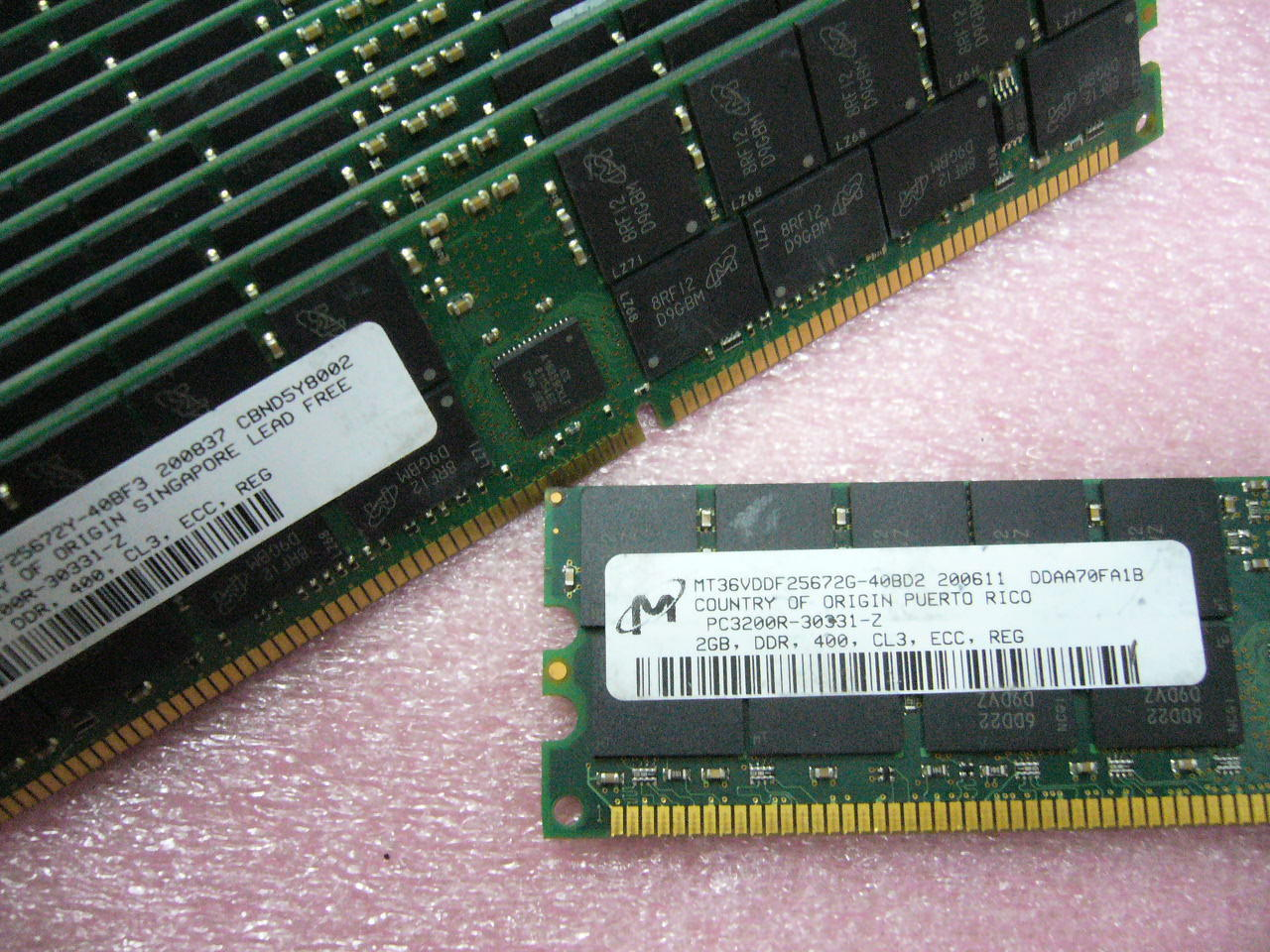 1x 2 GB DDR PC-3200R 400 Mhz CL3 ECC Registered Server Speicher Wichtige Marken