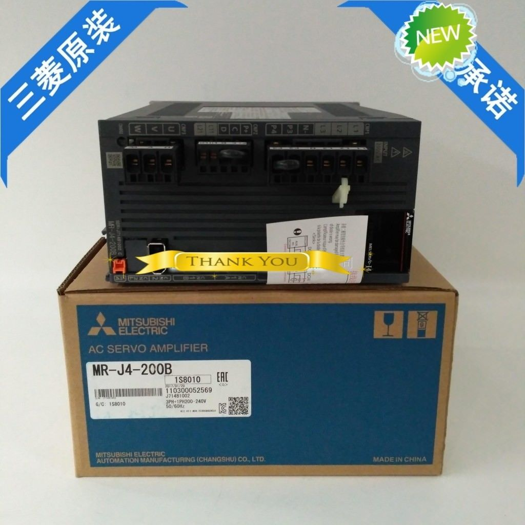 100% New Mitsubishi Servo Drive MR-J4-200B In Box MRJ4200B